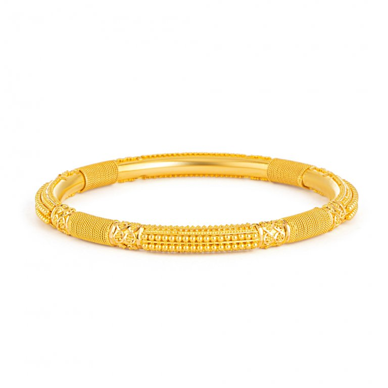 Jali Collection 22ct Gold Bangle 18.7gm