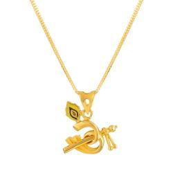 22ct Gold Pendant Om YGPN183