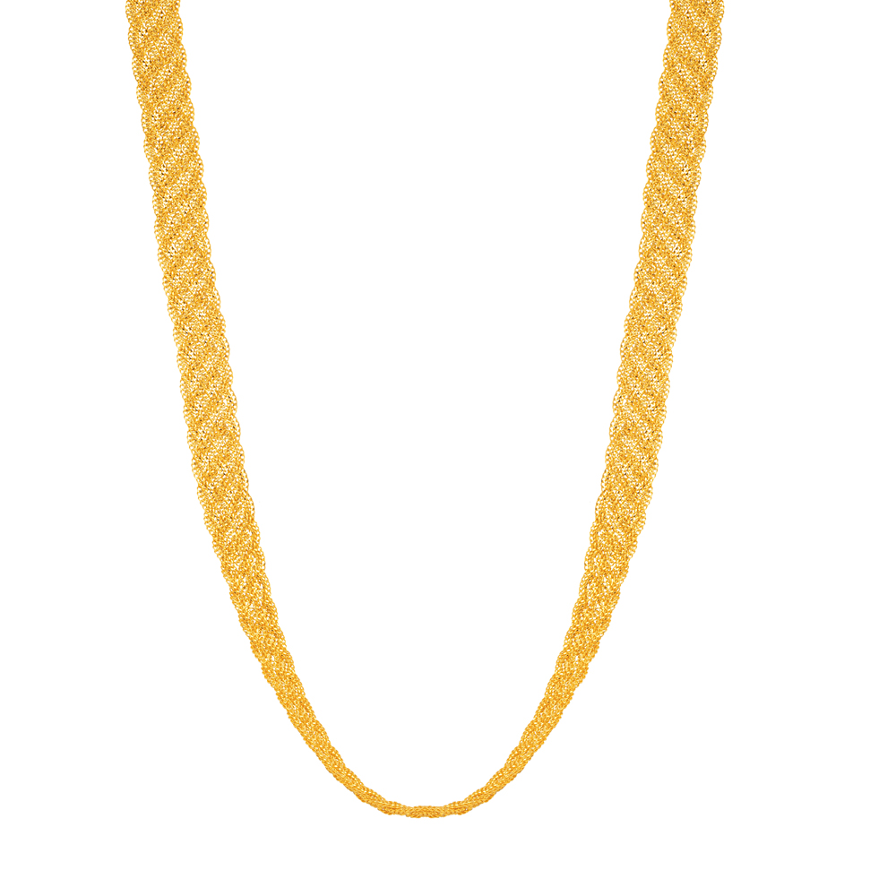 22ct Gold Necklace Twisted YGNC062