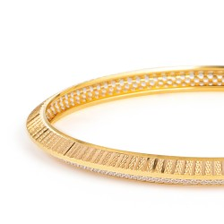 22ct Gold Daily Wear Bangle YGBG116