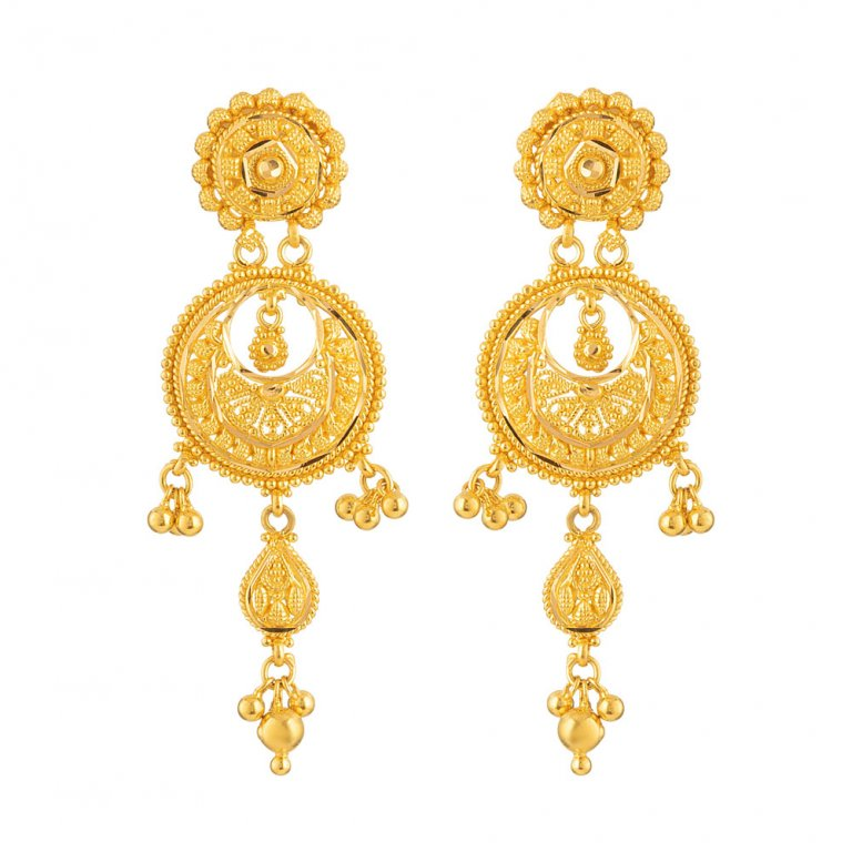 Jali Collection 22ct Gold Earring 11gm