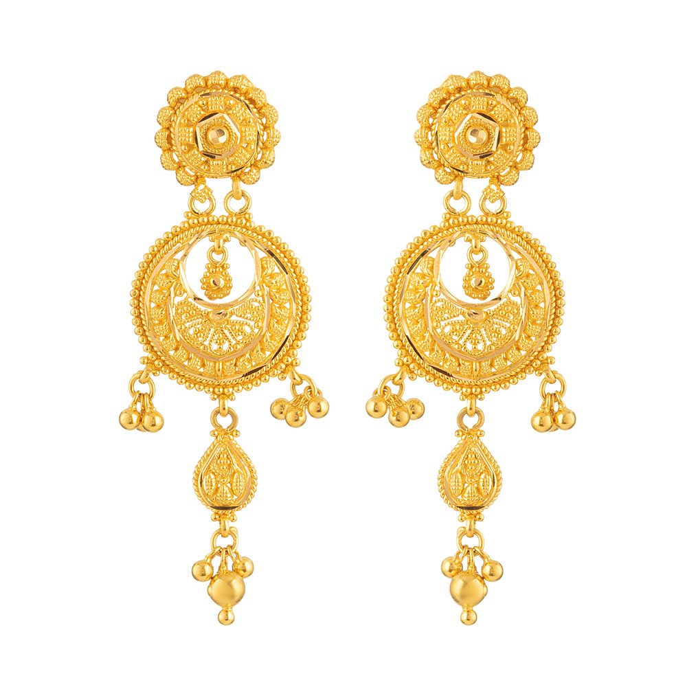 Jali 22ct Heavy Flat Earring JLER610