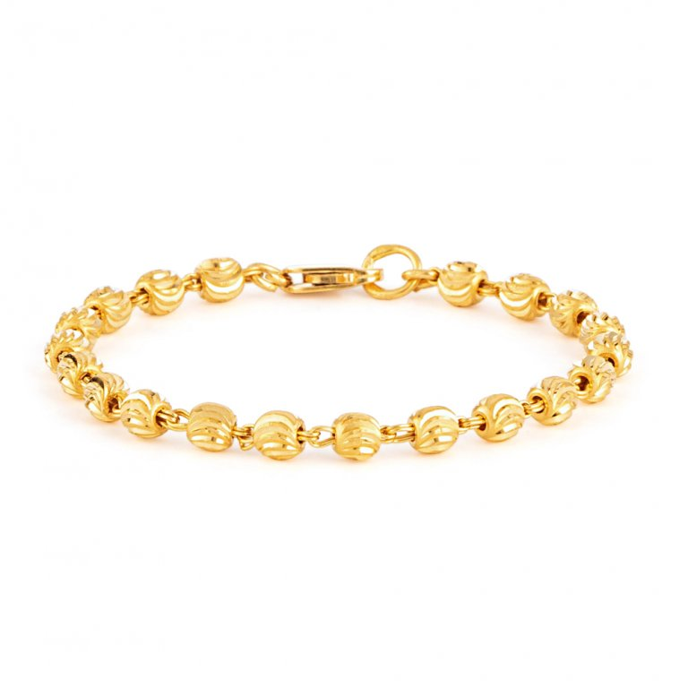 22ct Gold Baby Bracelet 4.7gm