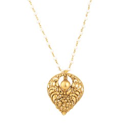 22k Yellow Gold Pendant with antique finish