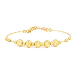 22ct Gold Ladies Bracelet Wired Ball YGBR106