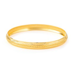 22ct Gold Kada Diamond Cut YGKD081