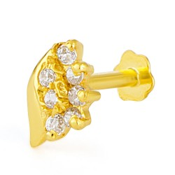 18ct Yellow Gold Nose Pin 0.2gm
