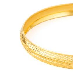 22ct Gold Kada Diamond Cut YGKD081