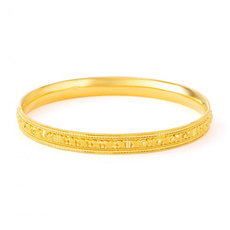 Jali Collection 22ct Gold Kada 19.3gm