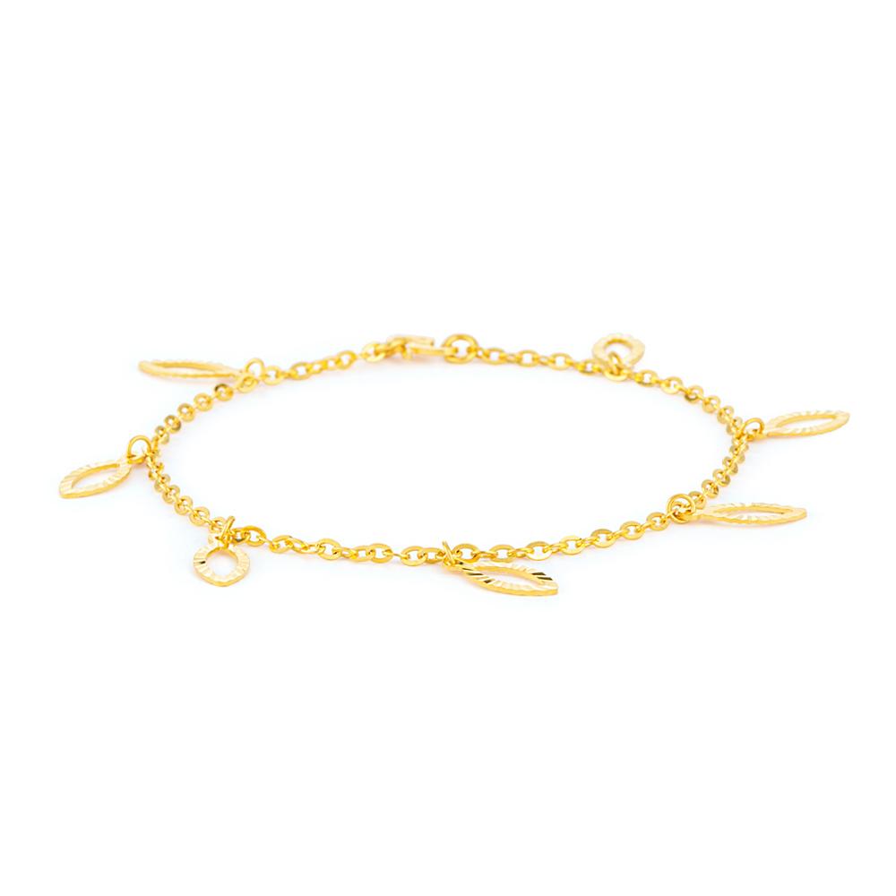 22ct Gold Light Charm Ladies Bracelet YGBR019