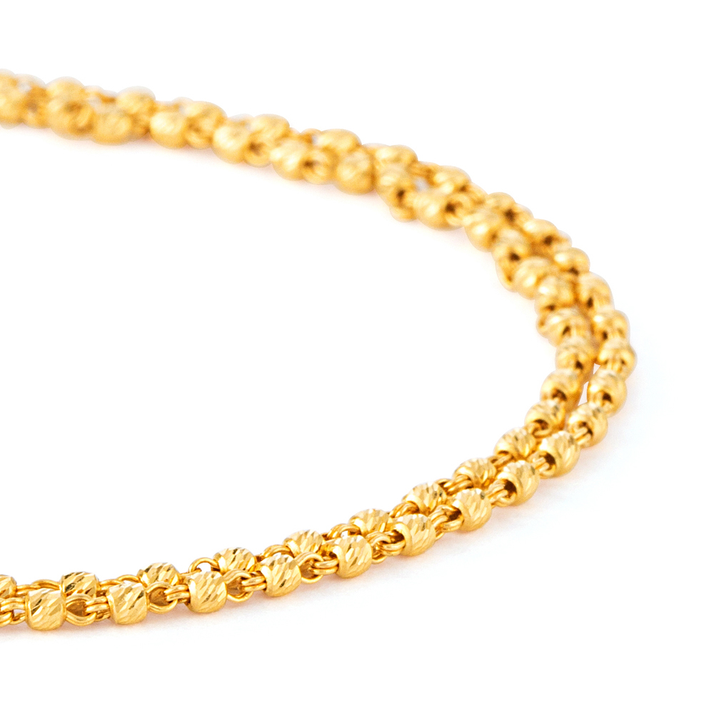 22ct Gold Medium Ladies Bracelet YGBR137