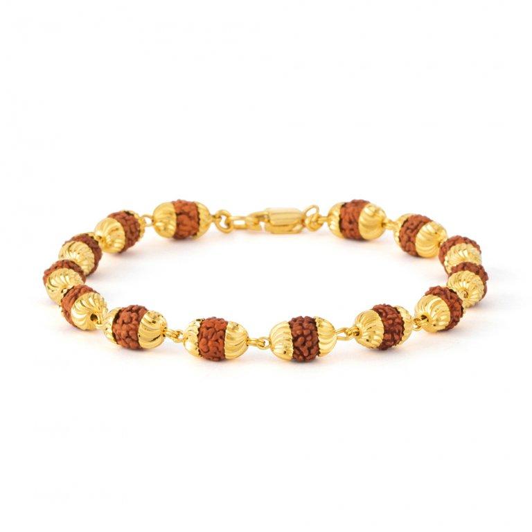 22ct Rudraksh Bracelet 11.1gm