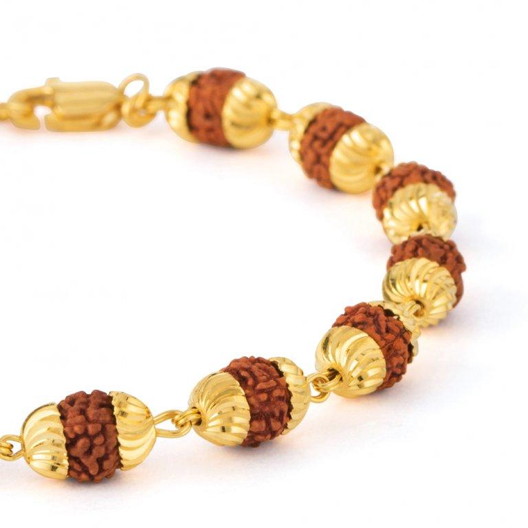 22ct Gold Rudraksh Bracelet YGGB048