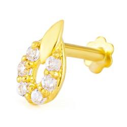 18ct Yellow Gold Nose Pin 0.3gm