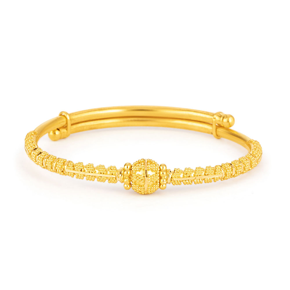 22ct Gold baby bangle 33405