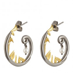 Baroque Artemisia Sterling Silver Earring NGE001