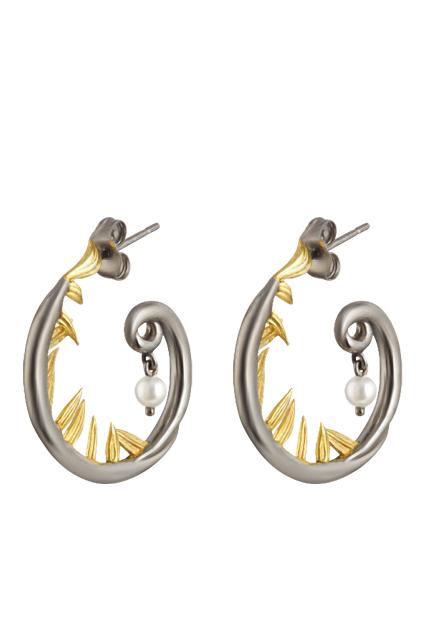 Baroque Artemisia Sterling Silver Earring NGE001