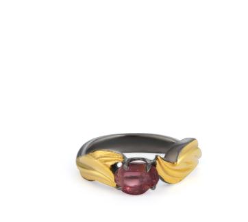 Baroque Artemisia Sterling Silver Garnet Ring NGR001