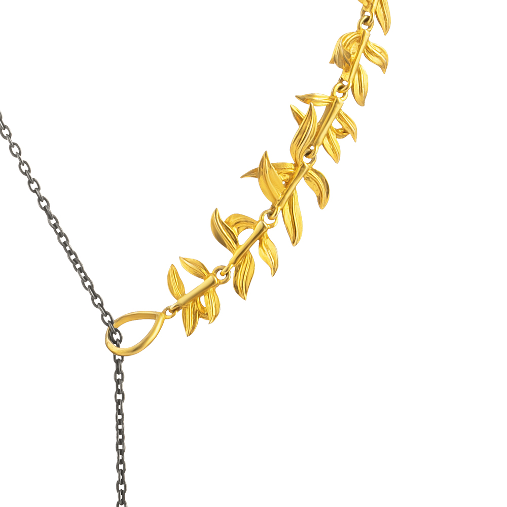 Baroque Artemisia Sterling Silver Garnet Necklace NGN003
