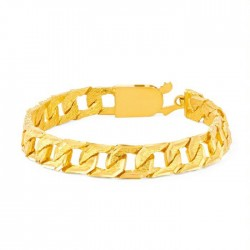 22ct Gold  Gents Bracelet 53.8gm