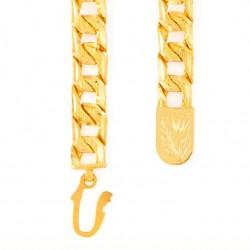 22ct Gold Heavy Flat Patta Gents Bracelet YGGB027