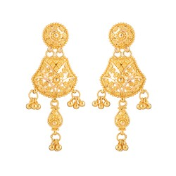Jali Collection 22ct Gold Earring 8.9gm