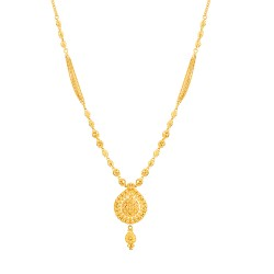 Jali Collection 22ct Gold Necklace 15.4gm