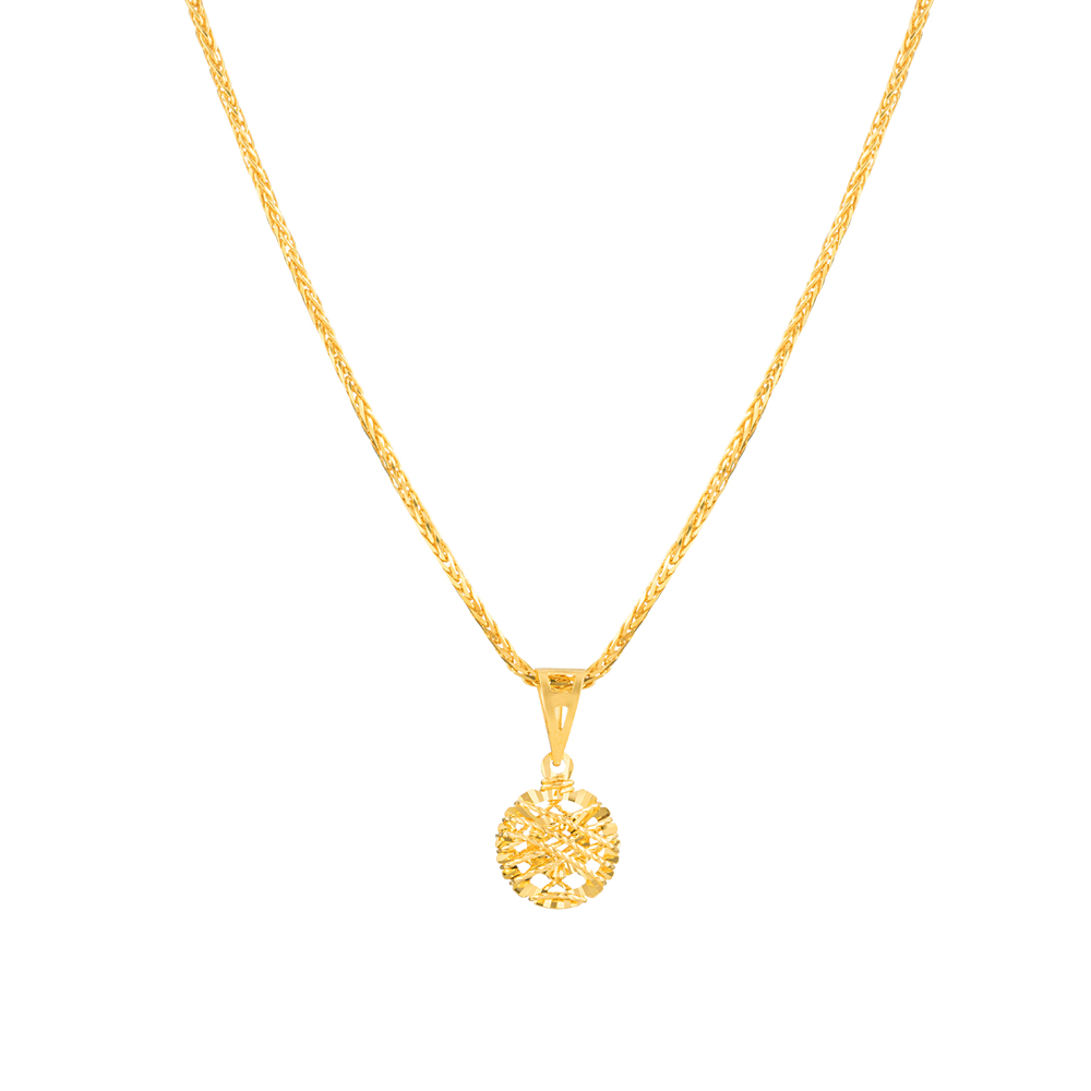 22ct Gold Light Round Shaped Pendant YGPN315