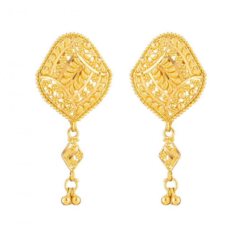 Jali Collection 22ct Gold Earring 6.8gm