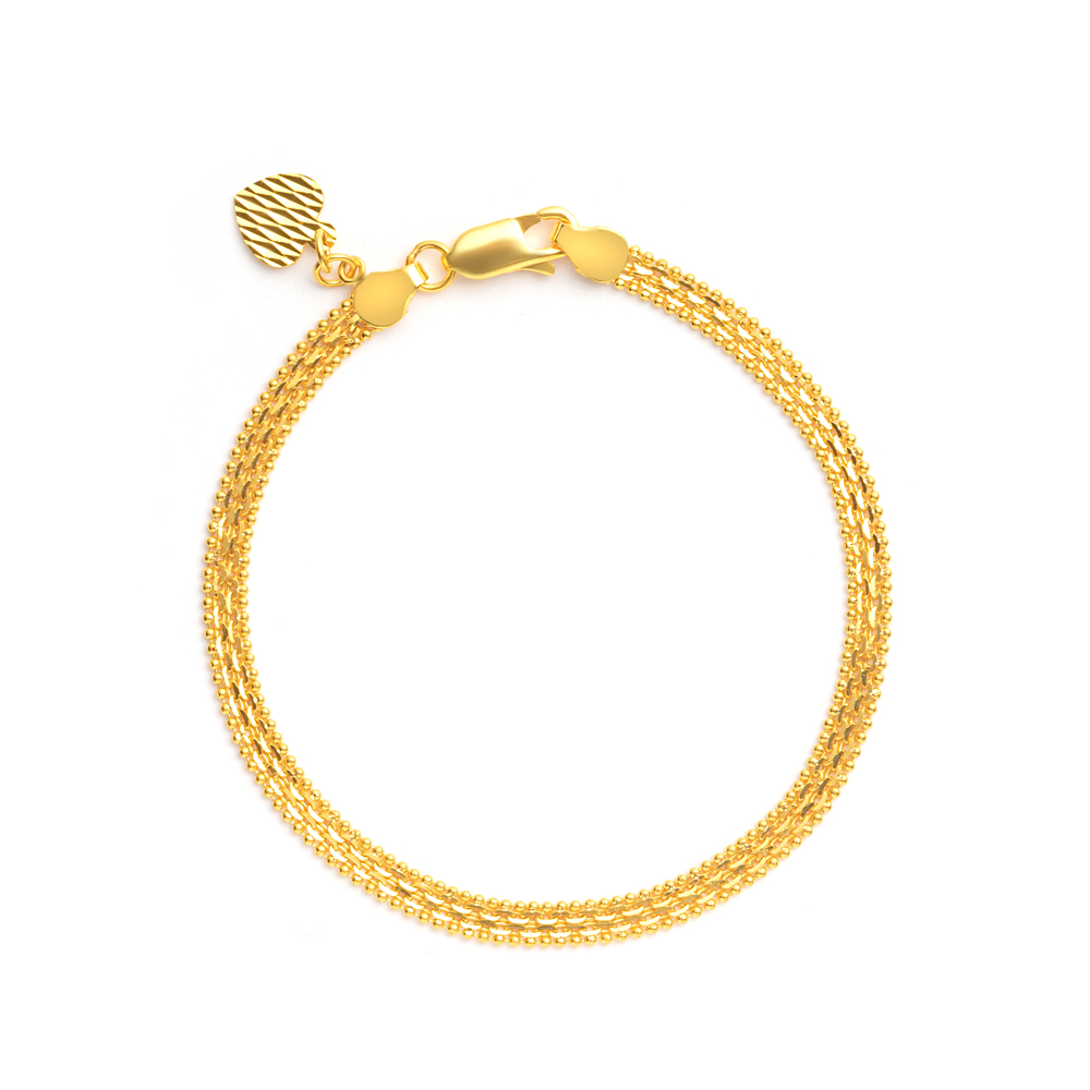 22ct Gold Medium Flat Patta Ladies Bracelet YGBR023