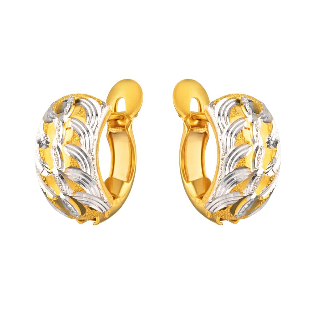 22ct Gold Light Bali Earring YGER215
