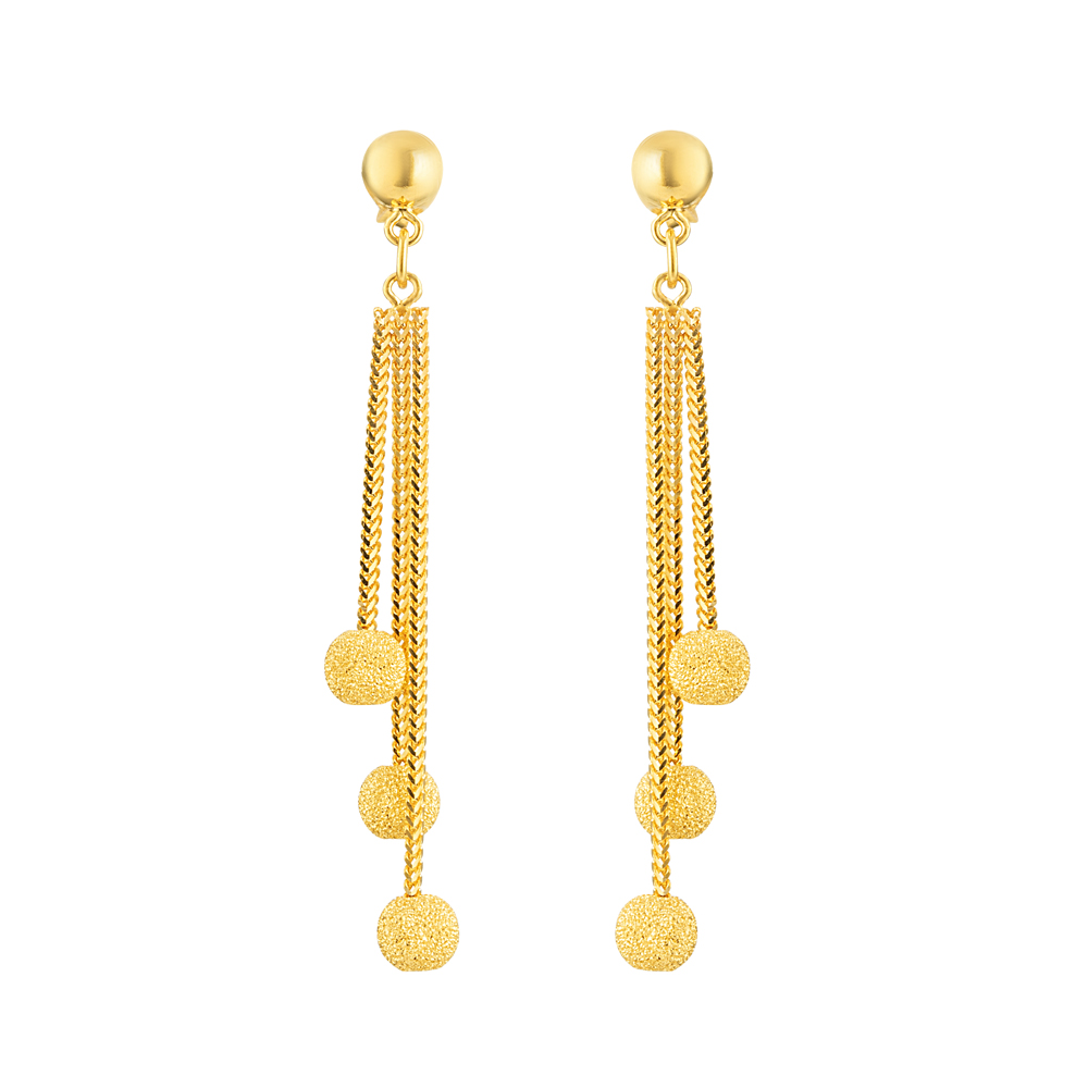 22ct Gold Earring Flat YGER335