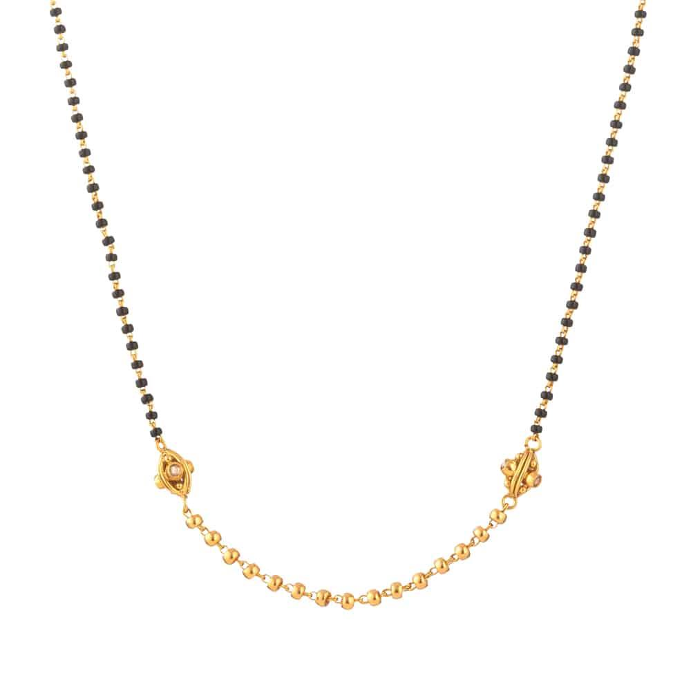 22ct Gold Mangalsutra Single line Chain YGMG105