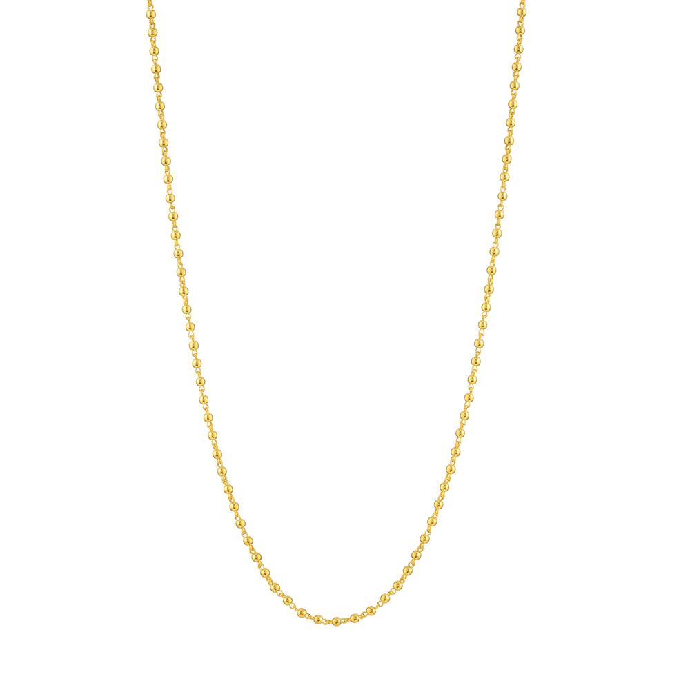 Glow 22ct medium Plain polished beads chain GLCH001