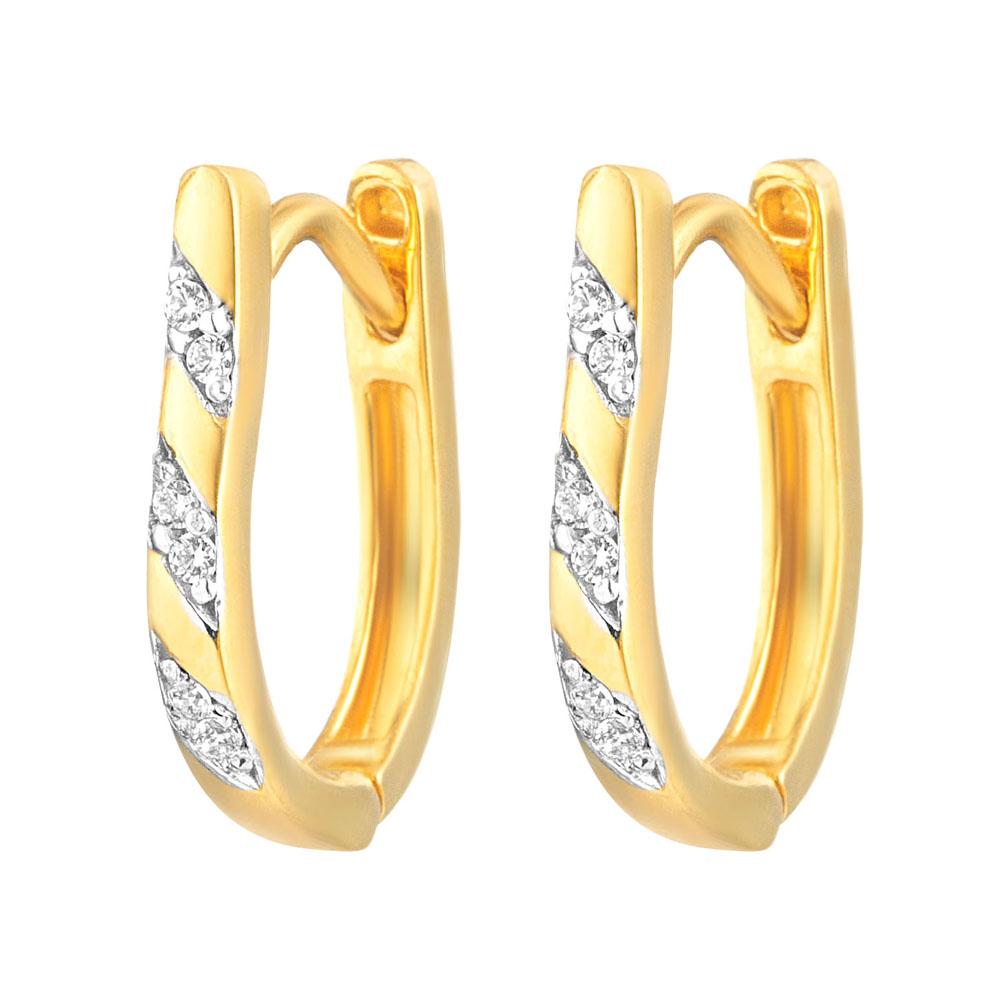 22ct Gold Light White CZ Stone Bali Earring YGER296
