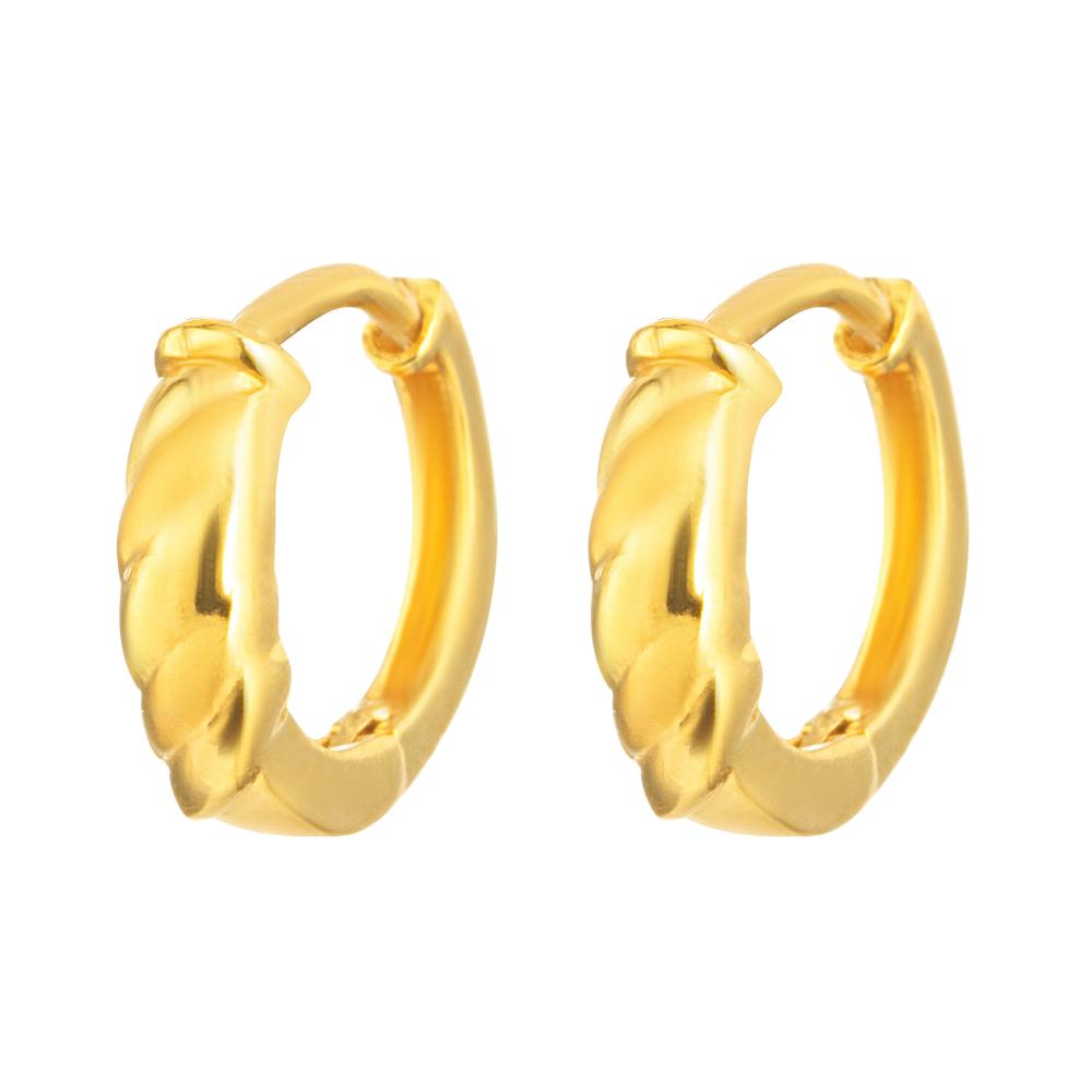 22ct Gold Light Bali Earring YGER310