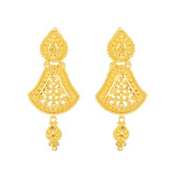 Jali Collection 22ct Gold Earring 8.3gm