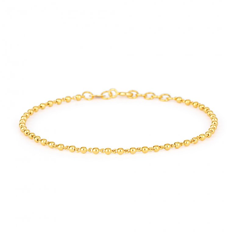 Glow Collection 22ct Gold Ladies Bracelet 3.2gm