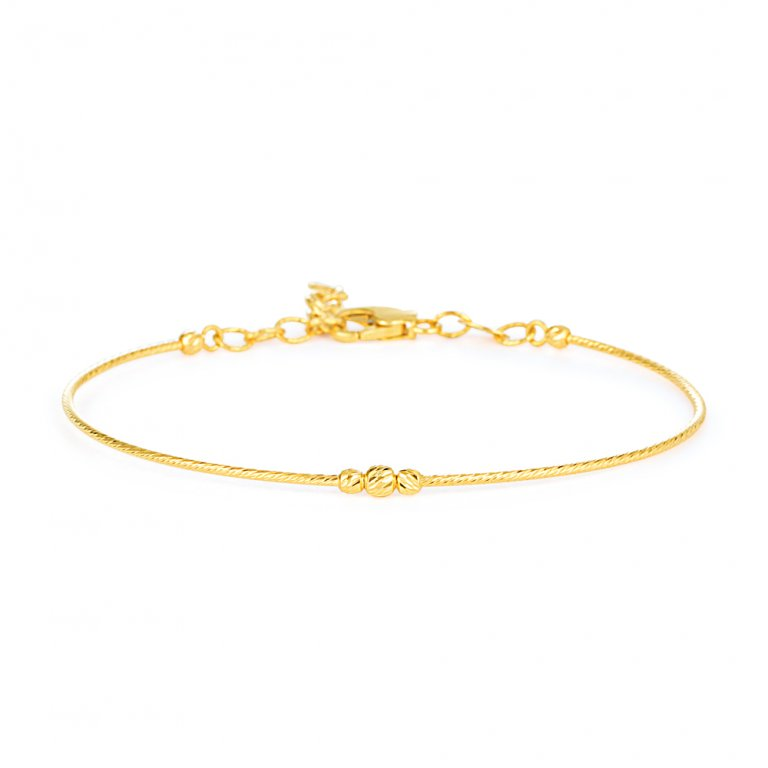 Glow Collection 22ct Gold Ladies Bracelet 3.4gm
