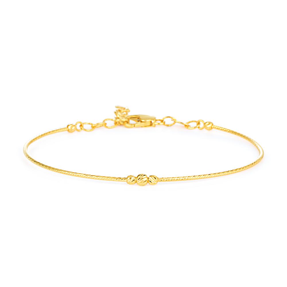 Glow 22ct Gold Light wired Beads Ladies Bracelet GLBR013