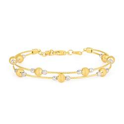 Glow Collection 22ct Gold Ladies Bracelet 11.1gm