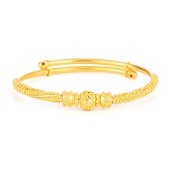 Jali Collection 22ct Gold Baby Bangle 6.5gm