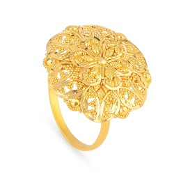 Jali Collection 22ct Gold Ring 5.3gm