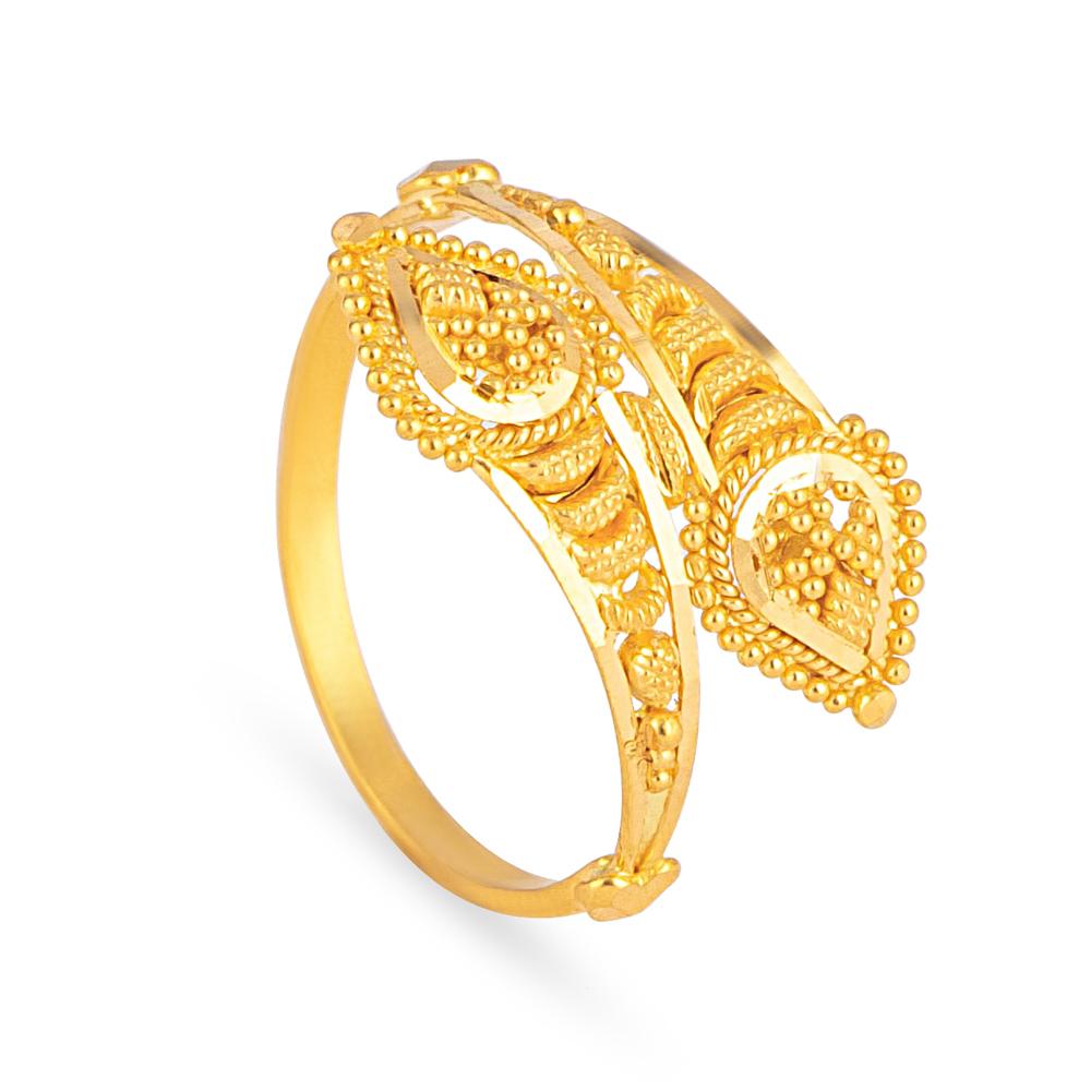 22ct Gold Light Filigree Ring JLRG648