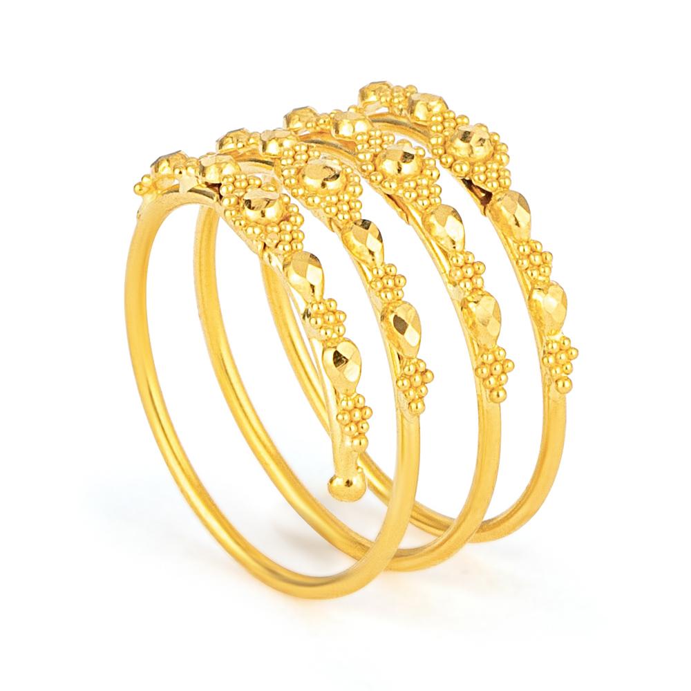Jali 22ct Light Spiral Filigree Ring JLRG630