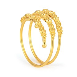 Jali Collection 22ct Gold Ring 3.3gm