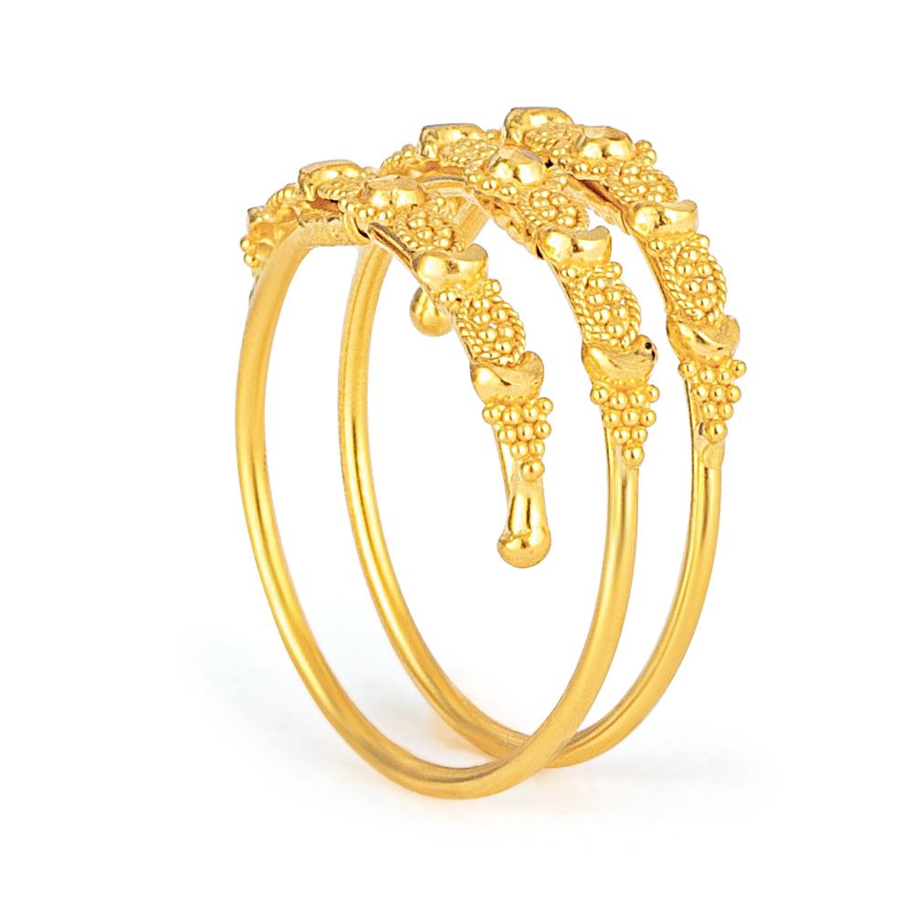 Jali 22ct Light Spiral Filigree Ring JLRG632