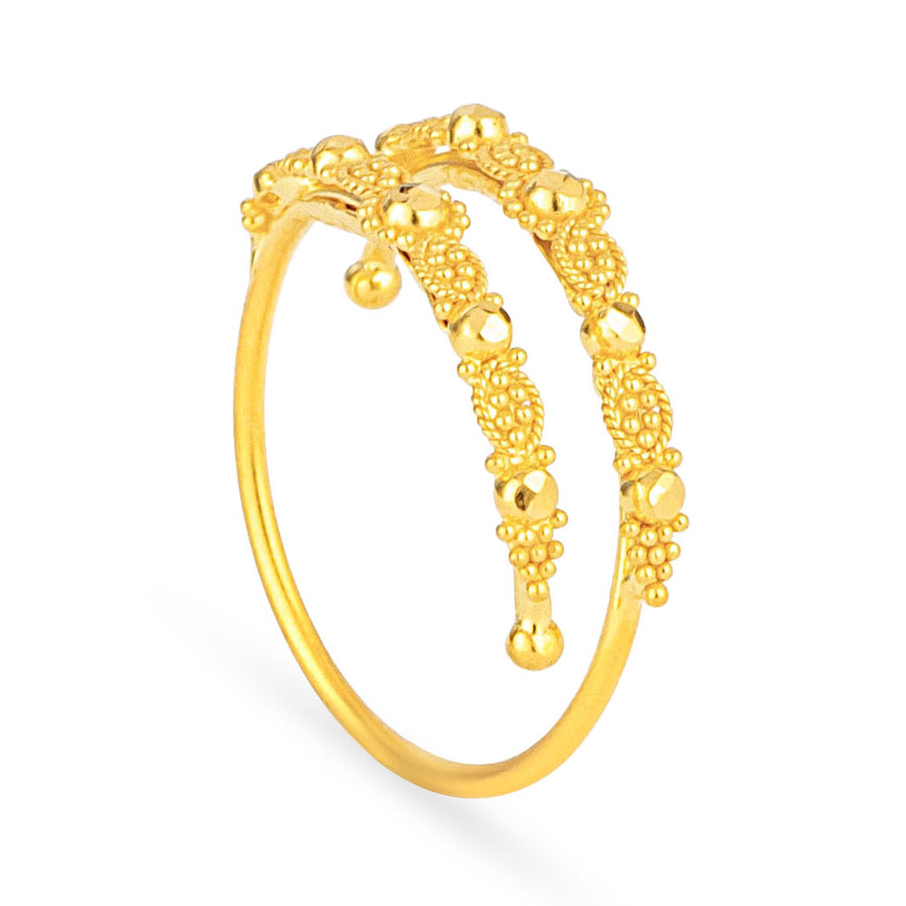 Jali 22ct Light Spiral Filigree Ring JLRG634