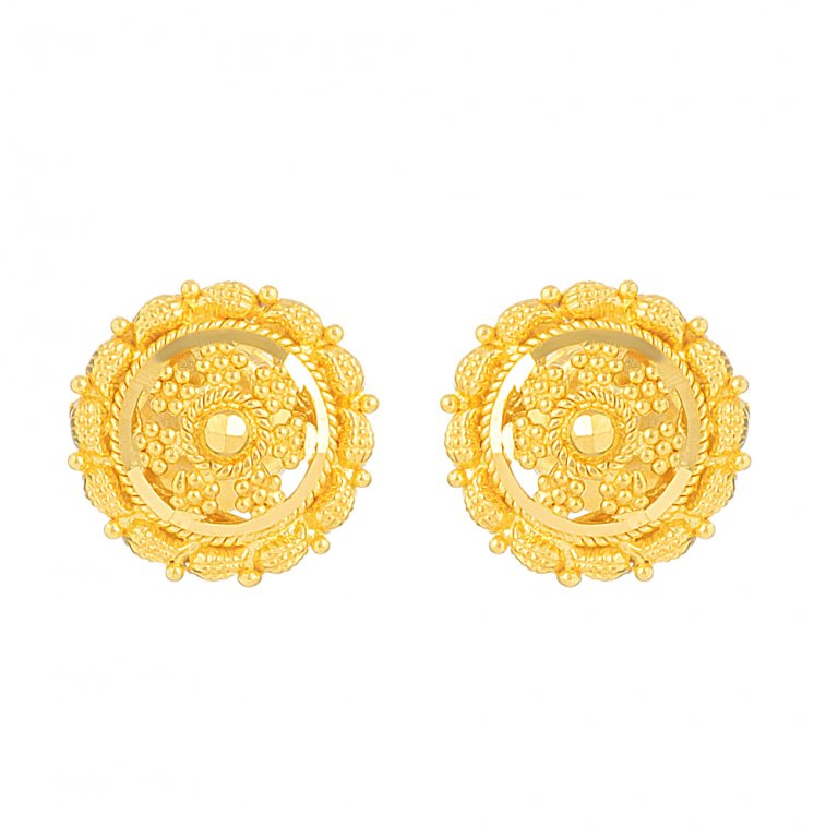 Jali Collection 22ct Gold Earring 2.5gm