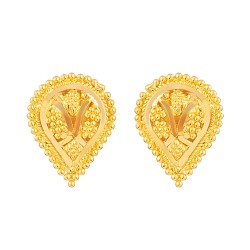 Jali Collection 22ct Gold Earring 2.4gm